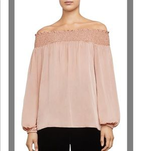 BCBGMAXAZRIA Milou Off-The-Shoulder Blouse